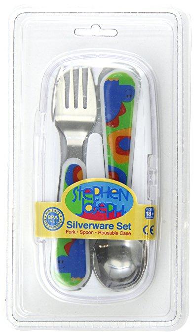 Stephen Joseph Silverware Set, Dino