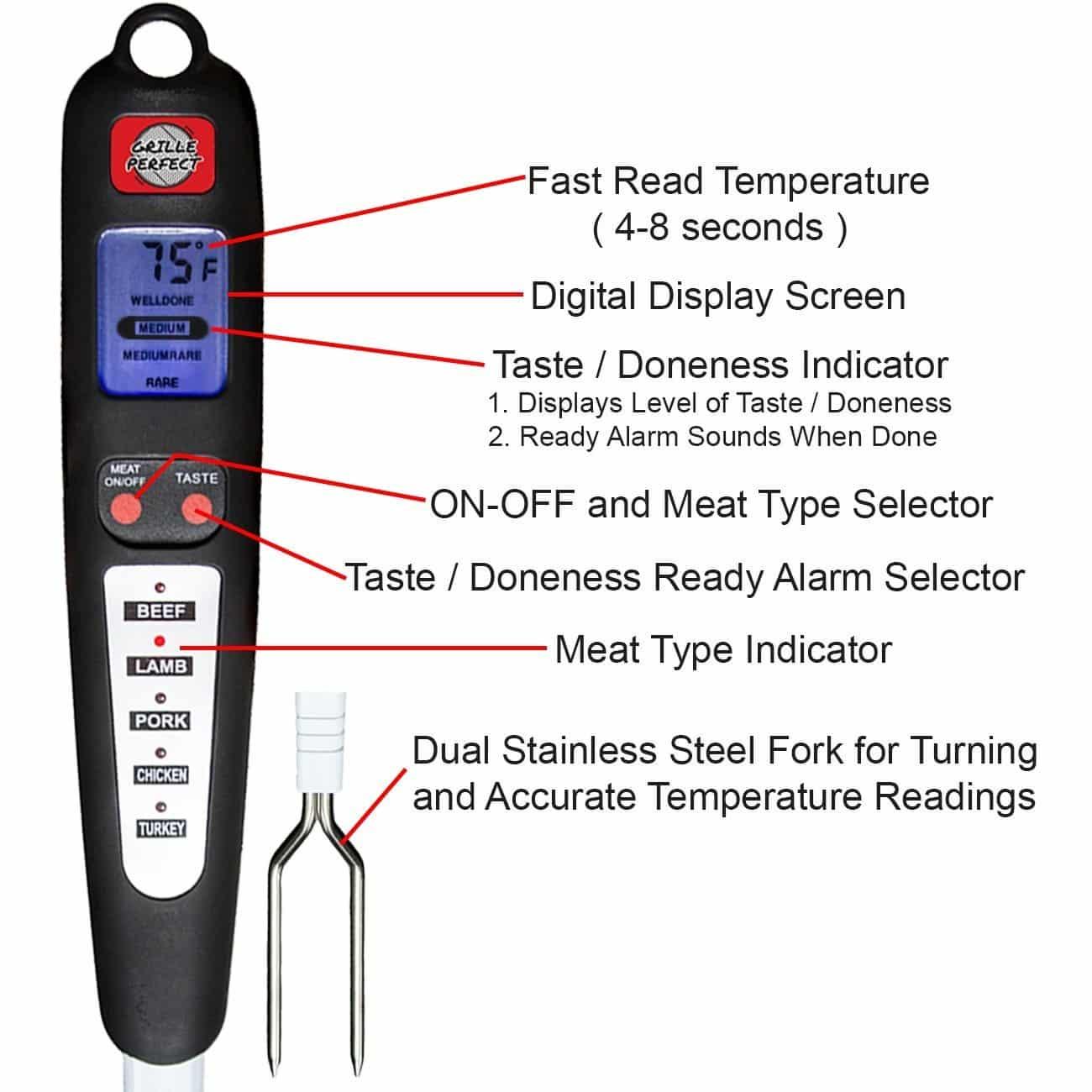 Termômetro Digital Para carnes Garfo RAM-GP01-MT3