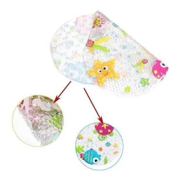 Topsky Baby Non-slip Bath Mat Anti-Bacterial Bathtub Mat4