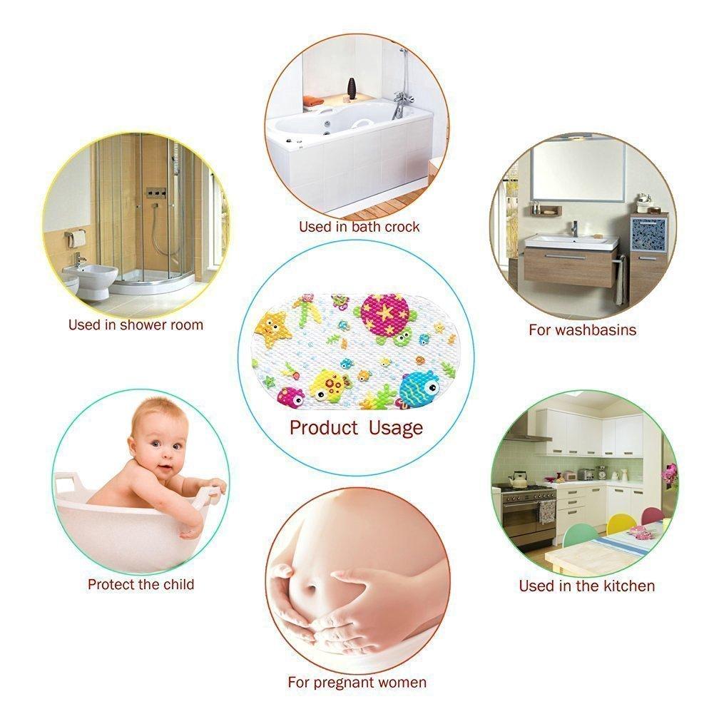 Topsky Baby Non-slip Bath Mat Anti-Bacterial Bathtub Mat7