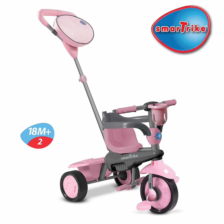 Triciclo Smartrike Swing 4-in-1 Bebê Peso-leve Cor Rosa