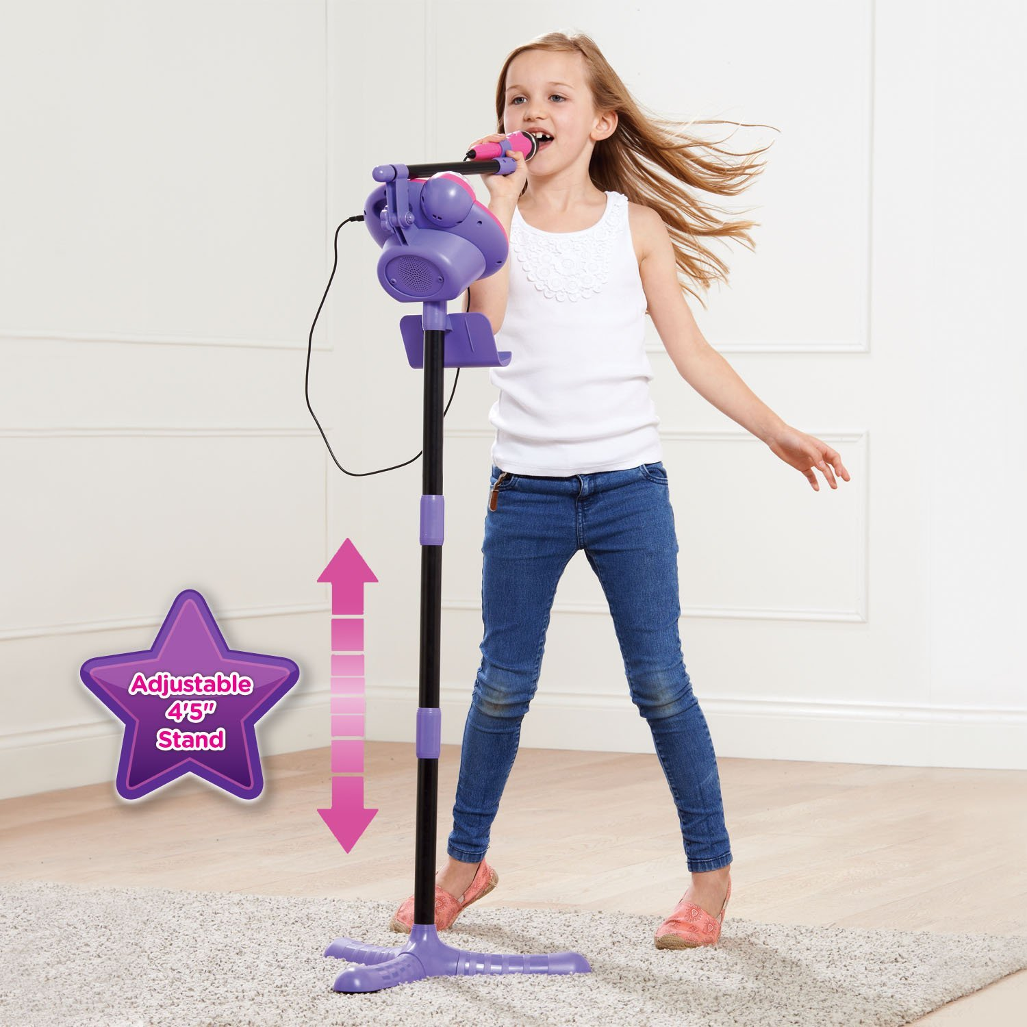 VTech Kidi Super Star Karaoke System with Microphone and Mic Stand – Online Exclusive
