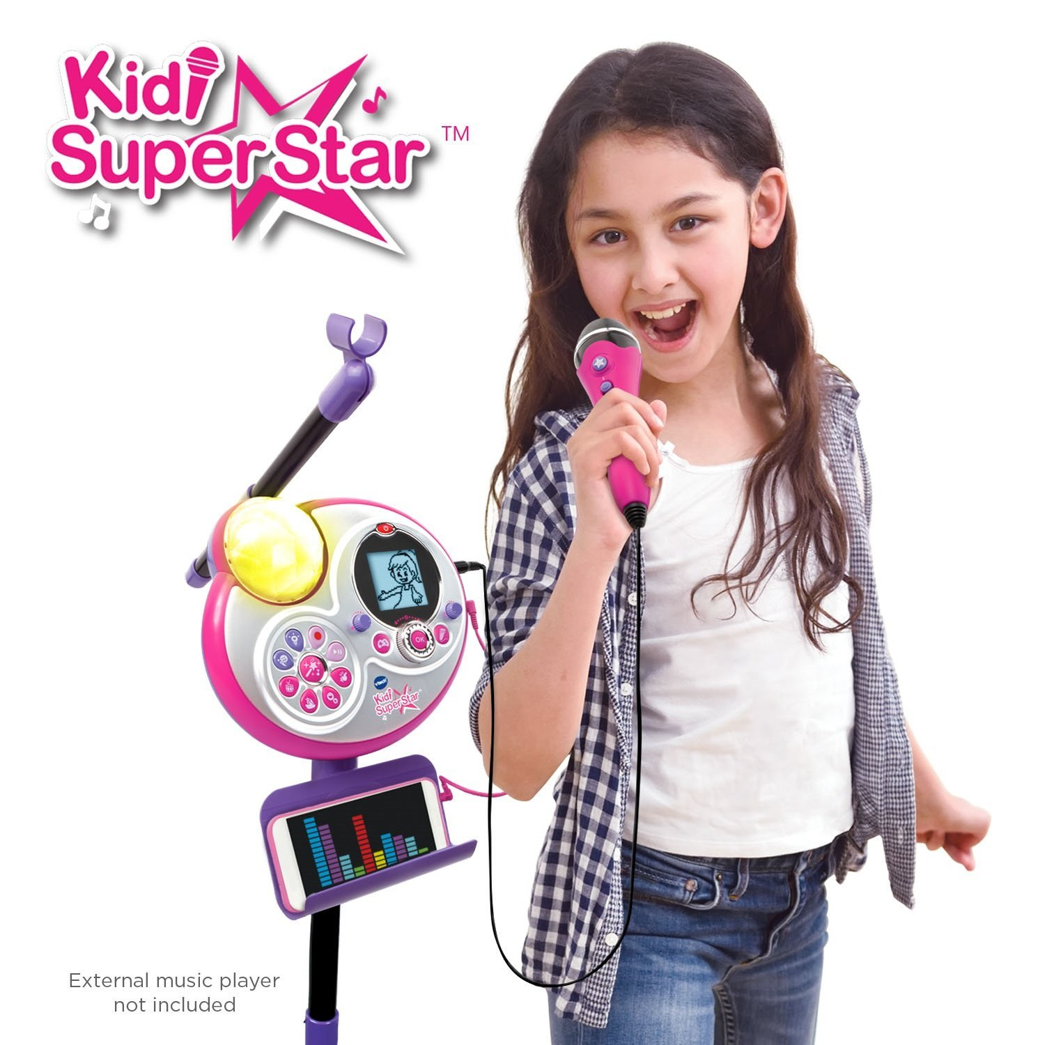 VTech Kidi Super Star Karaoke System with Microphone and Mic Stand – Online Exclusive4