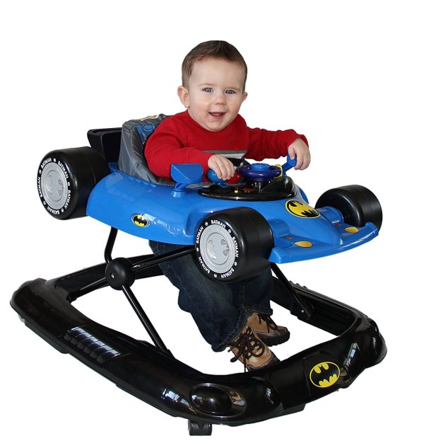 WB KidsEmbrace Baby Batman Activity Walker, Car with Music and Lights 9