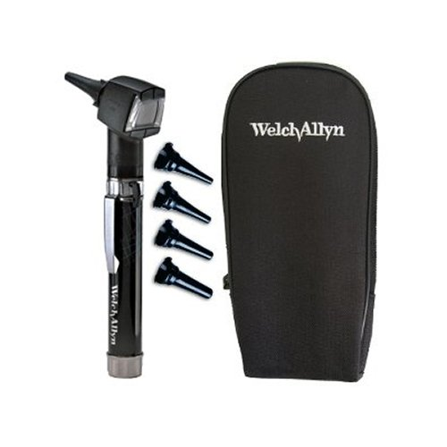 Welch Allyn Diagnostic Otoscope Set – PocketScope Junior with Handle and Soft Case