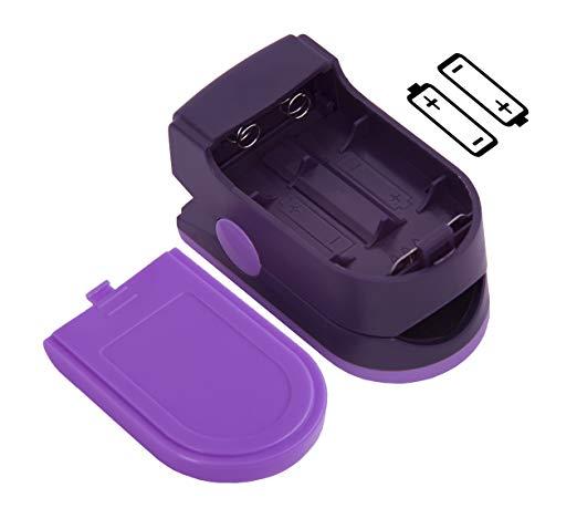 Zacurate Pro Series 500DL Dedo Oxímetro de pulso Monitor de Saturação de Oxigênio No Sangue com tampa de silicone, baterias e cordão (Roxo Real) 3