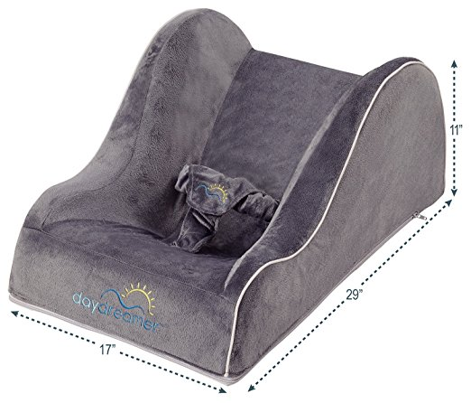 hiccapop Day Dreamer Sleeper Baby Lounger Seat for Infants – Travel Bed – Bassinet Alternative, Charcoal Gray5