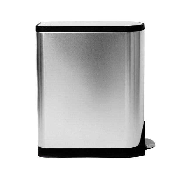 11.9 Gallon Stainless Steel Butterfly Lid Kitchen Step Trash Can, Brushed Stainless Steel4