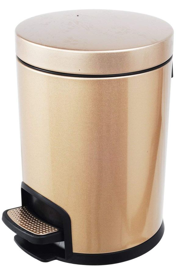 AMENITIES DEPOT Luxurious Stainless Steel Trash Can Garbage Bin Waste Receptacle (5L+30L)3