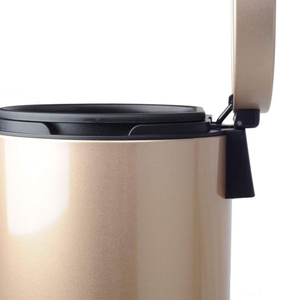 AMENITIES DEPOT Luxurious Stainless Steel Trash Can Garbage Bin Waste Receptacle (5L+30L)4