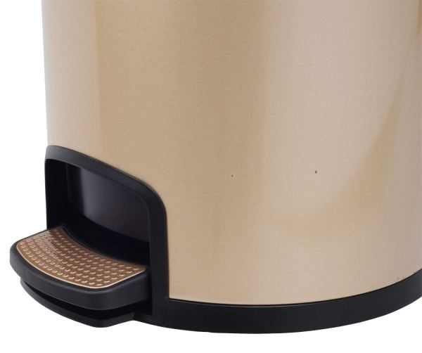 AMENITIES DEPOT Luxurious Stainless Steel Trash Can Garbage Bin Waste Receptacle (5L+30L)6