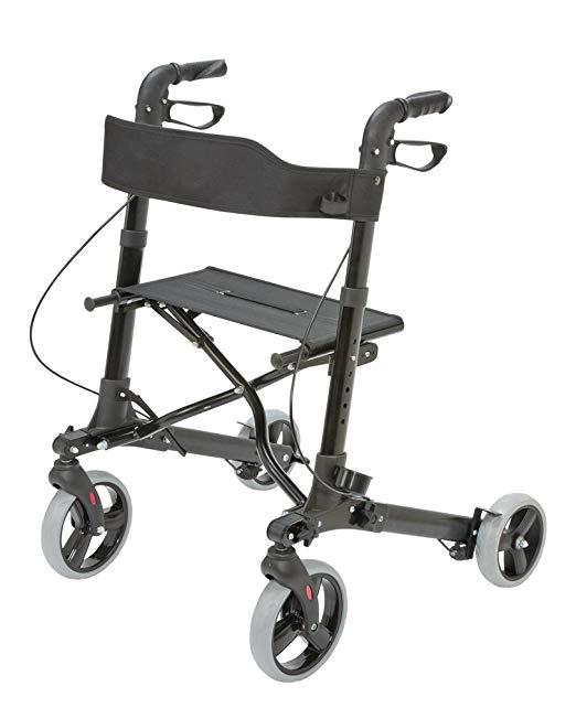Medical Rollator Walker Euro Style, Compact Foldi2