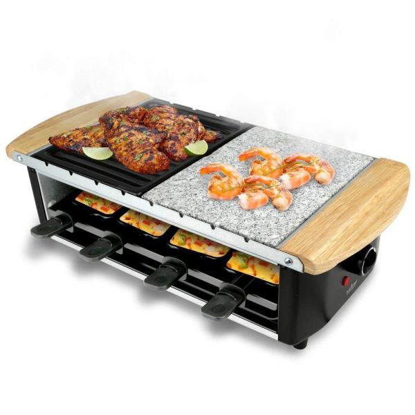 Raclette Party BBQ Grill with Temperature Control Electric Nonstick BBQ Indoor2