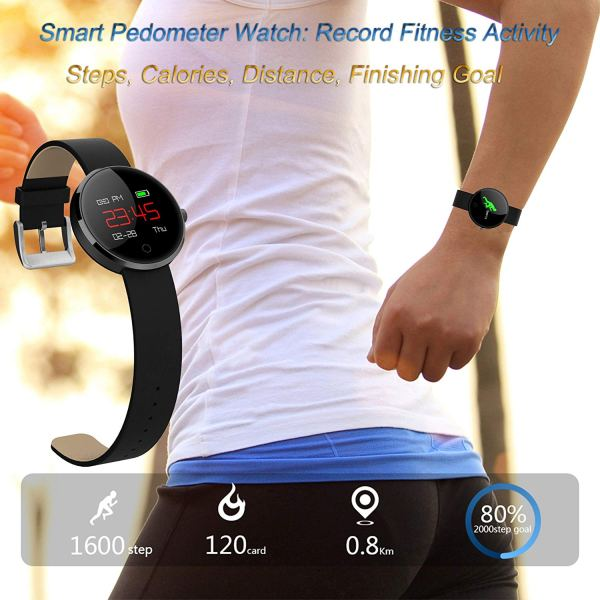 kingkok Colorful OLED Screen Dynamic Heart Rate and Blood Pressure Watch with 4