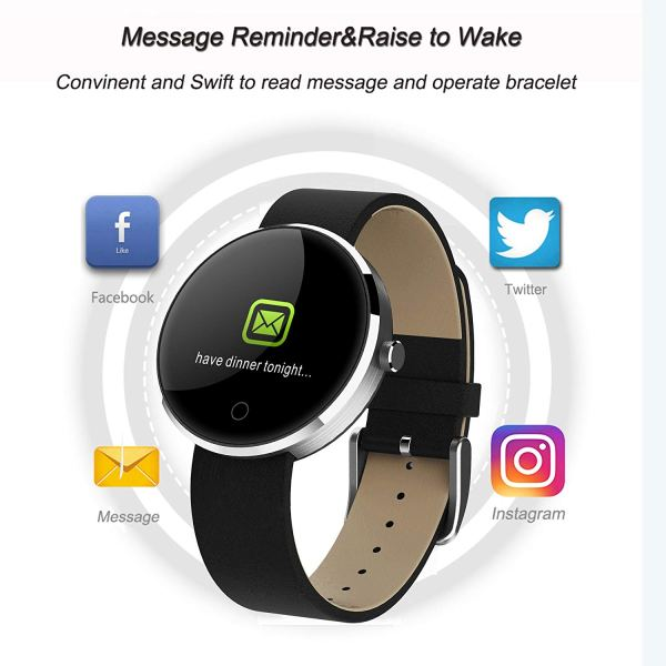 kingkok Colorful OLED Screen Dynamic Heart Rate and Blood Pressure Watch with 5