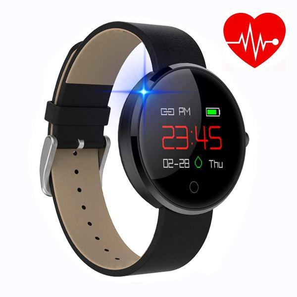 kingkok Colorful OLED Screen Dynamic Heart Rate and Blood Pressure Watch with