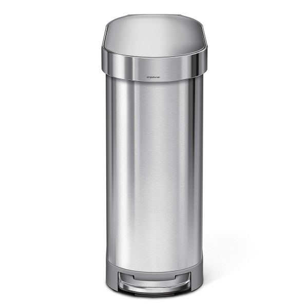 simplehuman Slim Step Can Brushed Stainless Steel, 45 2