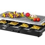 Artestia Electric Raclette Grill with Full Size High Density Granite Grill Stone, Serve the whole family (Full Size Grill Stone Raclette)