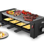 Artestia Electric Raclette Grill with High Density Granite Grill Stone,1600W High Power