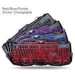 Gaming Keyboard and Mouse Combo Bluefinger USB Wired Lighted Keyboard 3 Color 6