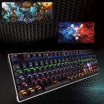 Mechanical Gaming Keyboard-Backlit Wired Gaming Keyboard-104 Keys with Preset and Customizable Lighting Effects for PC and Mac Gamers-Pro Gamers6