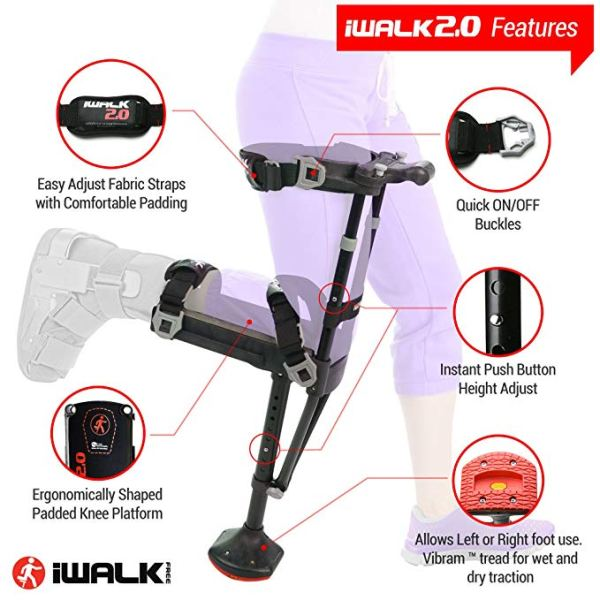 iWALK2.0 Hands Free Knee Crutch – Alternative for Crutches and Knee Scooters – by iWALKFree 6