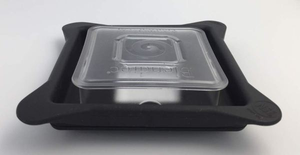 Blendtec Lid – Soft Vented Gripper Mix-in with Square Clear Plug