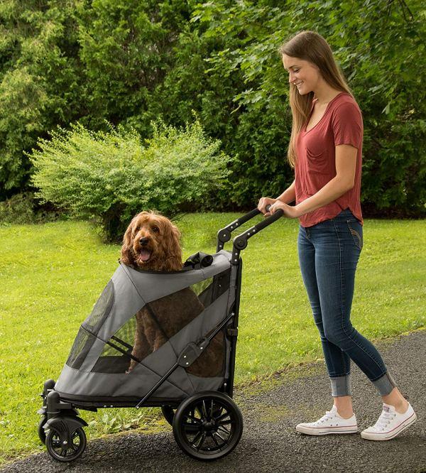 Pet Gear NO-Zip Stroller, Botão Zipperless Entrada Dupla, para5