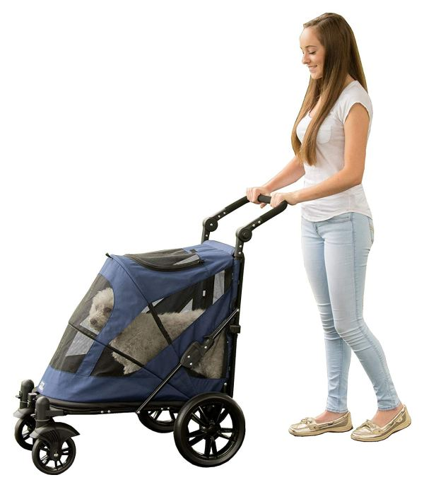 Pet Gear NO-Zip Stroller, Push Button
