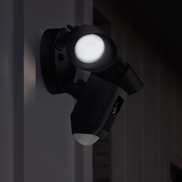 Ring Floodlight Camera Motion-Activated HD Security Cam Two-Way Talk and Siren Alarm, Black, Works with Alexa4
