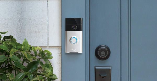 Ring Wi-Fi Enabled Video Doorbell in Satin Nickel, Works with Alexa2