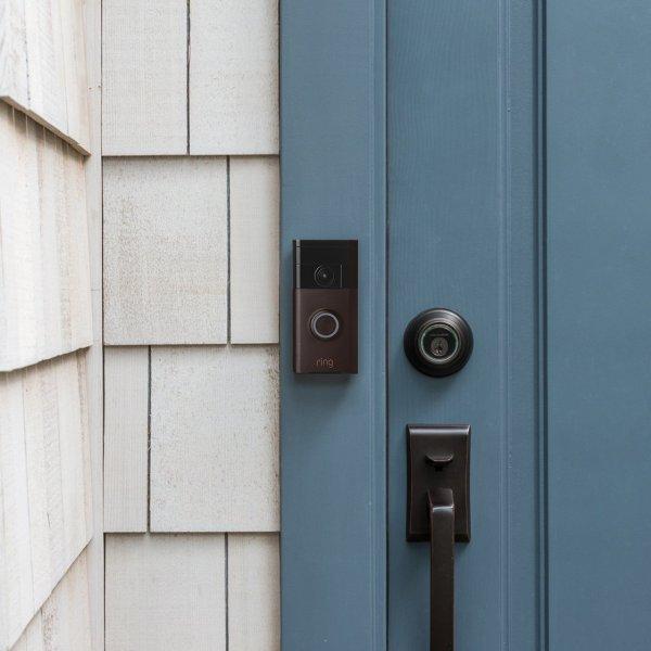 Ring Wi-Fi Enabled Video Doorbell in Venetian Bronze, Works with Alexa4