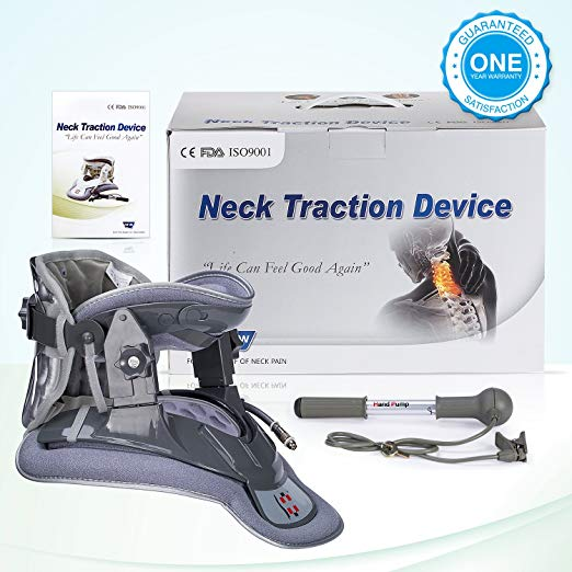 Hangsun Cervical Neck Traction Device and Inflatable Adjustable Neck Brace Collar, Patented FDA Approved Medical Therapy Unit for Neck Pain Relief 7