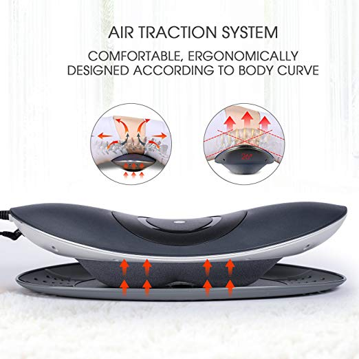 Hangsun Electric Lumbar Traction Device ML90 Spine Stretcher Waist Back Massager with Heat Air Pressure and Vibration Massage for Lower Back Pain Relief 4