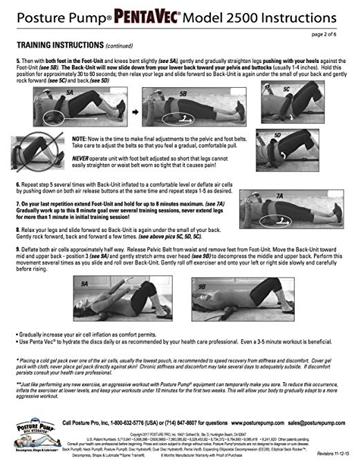 Posture Pump Relief for Sciatica and Low Back Pain – Penta Vec Model 2500 4