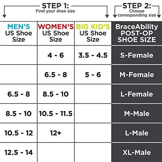 BraceAbility Post-op Shoe for Broken Foot or Toes2