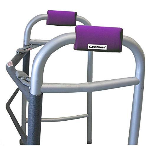 Crutcheze Deep Purple Walker Acolchoado Mão Grip Covers Made in EUA Umidade Wicking, Antibacteriano, Conforto, Moda, Lavável Acessórios Ortopédicos Produtos