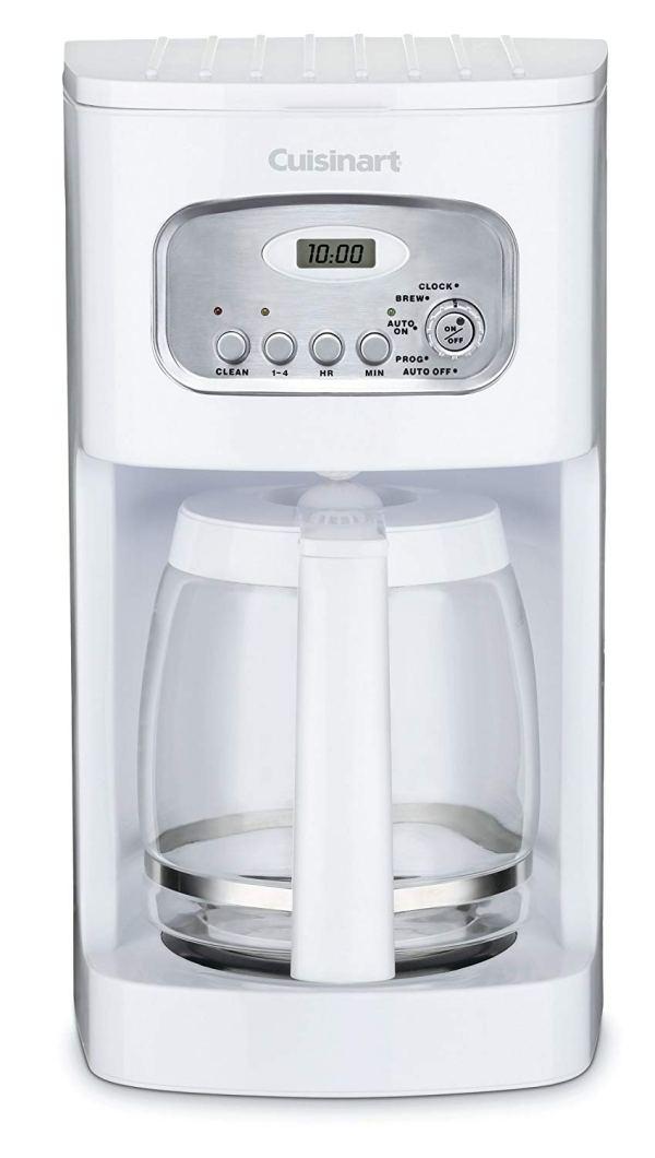 Cuisinart DCC-1100 cafeteira programável de 12 xícaras, branca
