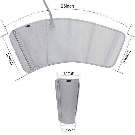 FIT REI Leg Air Massageador para Massagem Circulação Compressão Sequencial Wraps com Controlador de Mão 2 Modos 3 Intensidades 3