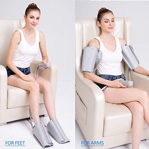 FIT REI Leg Air Massageador para Massagem Circulação Compressão Sequencial Wraps com Controlador de Mão 2 Modos 3 Intensidades 5