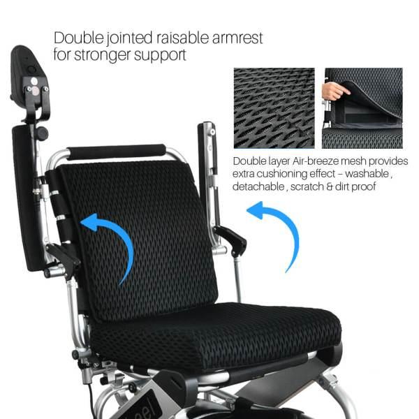 PW-999UL (Lightest Power Folding Wheelchair)2