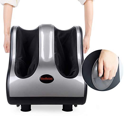 Shiatsu Foot Calf Massager Leg Massager with Kneading Rolling Vibration Heating 6