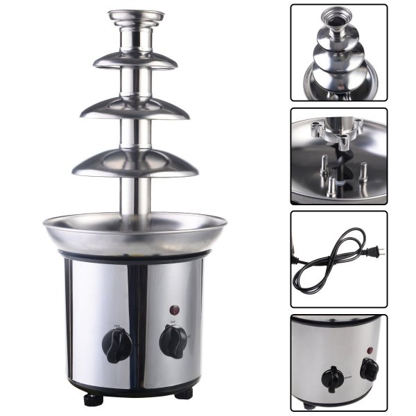 expert store VD-51743HW 4 Tiers Commercial Stainless