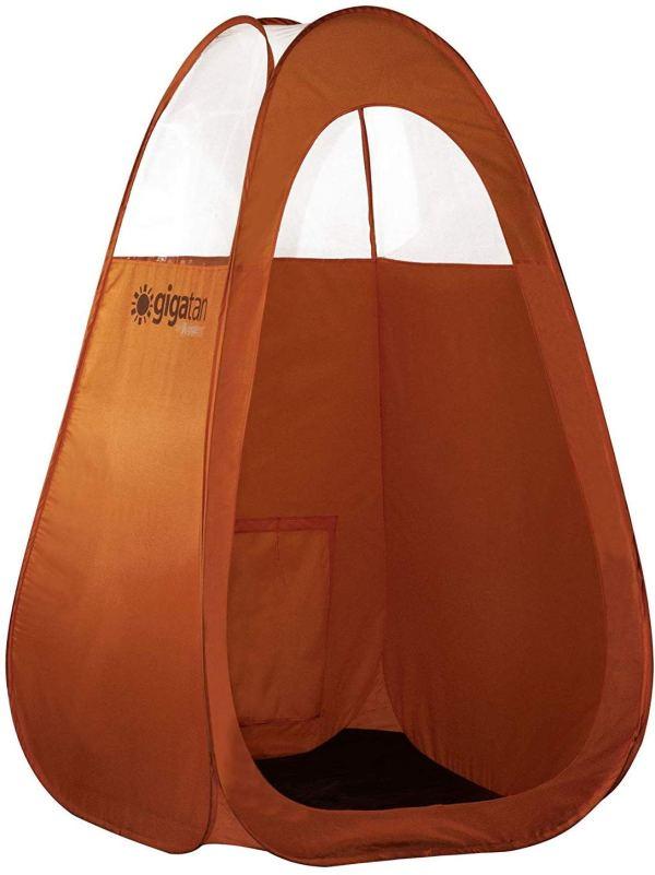 Tenda para bronzeamento a jato dobra facilmente em 30 segundos com bolsa de transporte