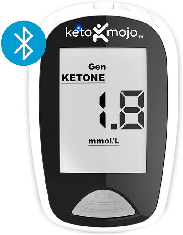 KETO-MOJO Kit Medidor de Teste de Sangue e Glicose Bluetooth 5