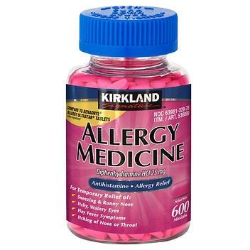 Anti-histamínico Kirkland Signature 25 mg. – 600 Minitabs