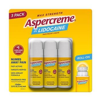 Aspercreme Lidocaine No-Mess Roll-On – 73ml cada