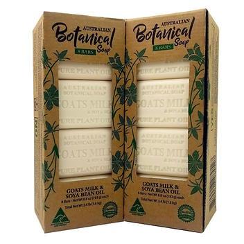 Barras de sabão de leite de cabra botânica 8 AUSTRALIAN – 16 unidades