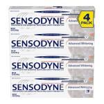 Creme dental clareadora avançada SENSODYNE,184g – pacote com 4