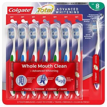 Escova de dentes clareadora Colgate Total Advanced- pacote com 8